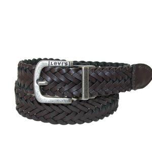 Levi's Boys Reversible Braided Leather Belt